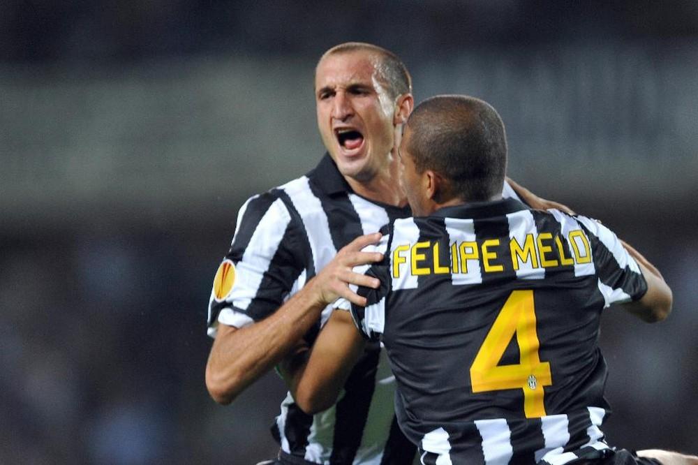 Chiellini e Felipe Melo atuaram juntos na Juventus no fim dos anos 2000. Foto: Getty Images