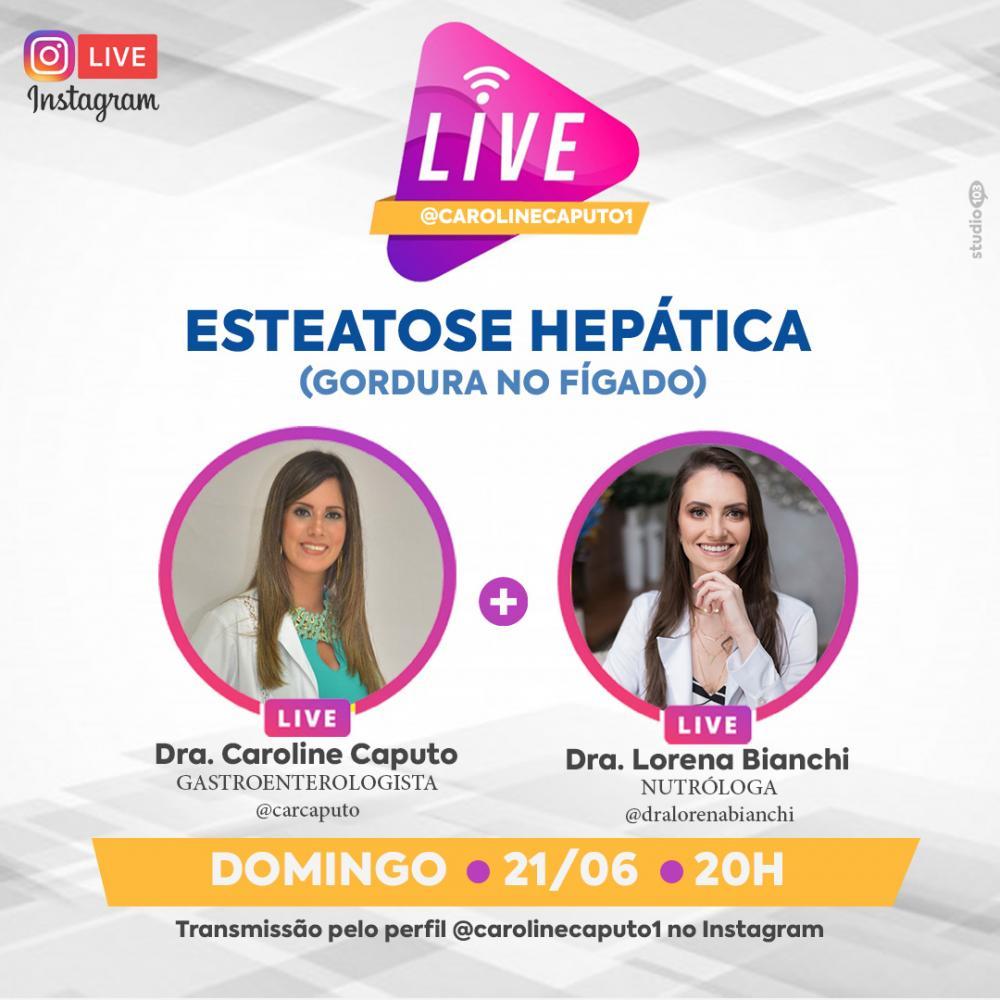 Live acontece neste domingo através do perfil da Dra. Caroline Caputo no Instagram