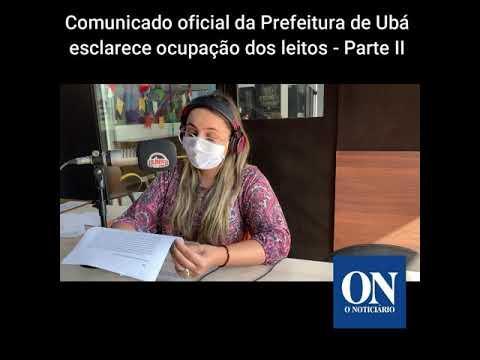 Comunicado oficial da Prefeitura esclarece ocupação dos leitos II - Boletim O Noticiário 07/07/2020